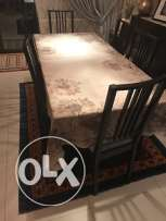 IKEA Dinning Table with 6 chairs