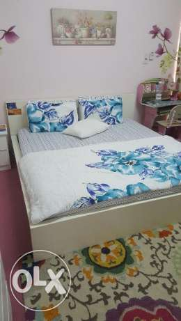 Bed (Orthopedic mattress), 2 Side Tables and Drawer