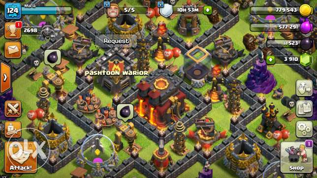Clash of Clans account for sale.
