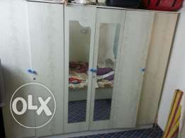 White bedset 6door cupboard