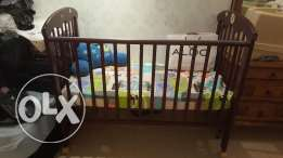 baby cot and high chair for sale