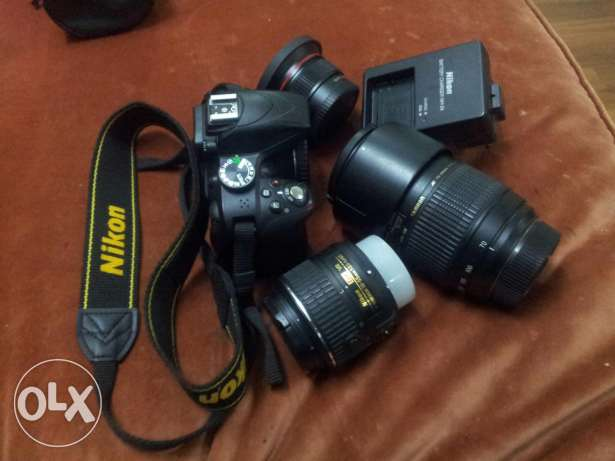 Nikon d3300 with 2lenses + ultra wide and macro lence with all accesso جدة -  1