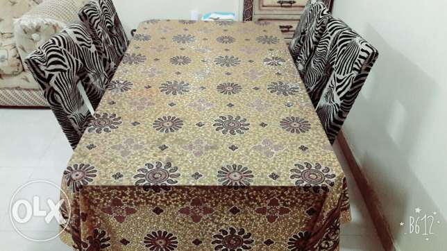 Dinning table with 4 piece chairs