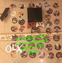 Xbox 360 with 40 games + Kinect + 3 controllers