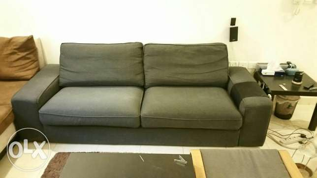Ikea couch dark grey