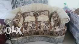 Sofa set 7 seater in 3 parts & 4 chairs 2+2 diferent + 14 cushions
