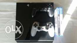 1TB PS4 Console w/ 2 controllers and 2 games