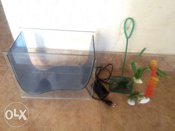 Stylish Aquarium 30x15 cm. Including all accessories & gravels