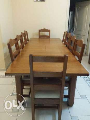 10 seater dining table With sideboard buffet