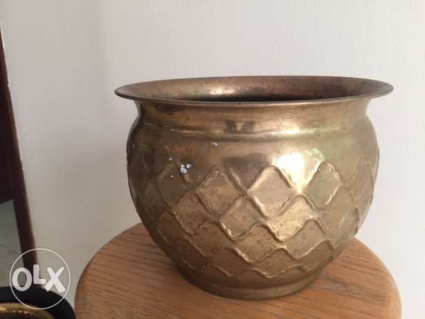 pot brass for indoor plant