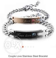 couple braclets stainless steel