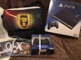 Playstation 3 + 2 joystick + 2 Games بلاي ستيشن ٣