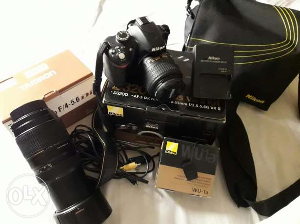Nikon d3200 Complete kit wifi + Tamron zoom lens 70-300mm