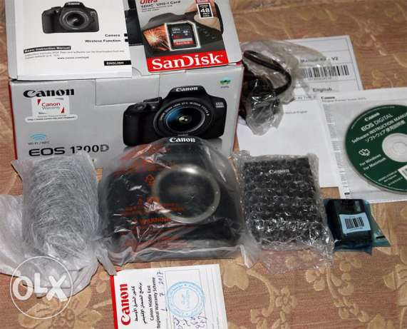 Canon 1300d prof. camera new for sale