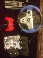racing wheel'metalgearsolid5,and red controller