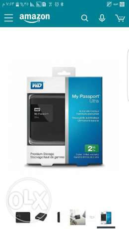 WD 2TB Black My Passport Ultra Porta