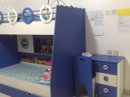 Kids Bunk bed with study table & chair