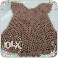 Hand crocheted baby dress!