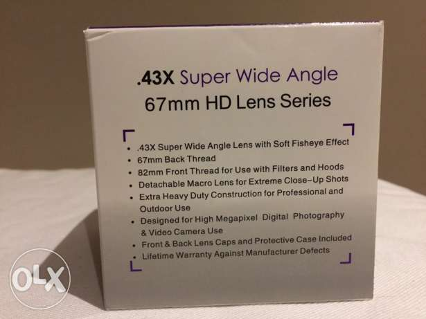 DSLR Wide Angle Lens w/d Macro - 67mm thread size الدلم -  6