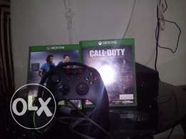 Xbox one 500 gb with 2 games