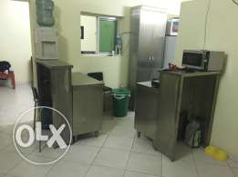 stainless steel kitchen cabinets.