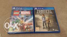 Lego marvel super hero's ps4 and the 2 brothers cd
