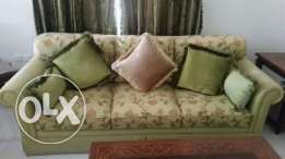 7 seater sofa set with free curtain