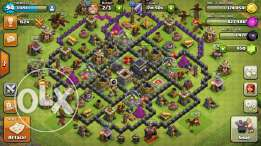 Clash of clans Th9 with 800 gem