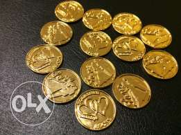 13 Gold Arras Wedding Coins