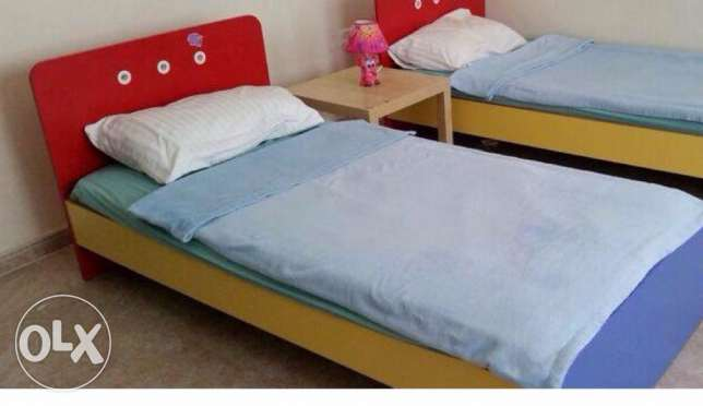 (1) Kid's Bed from Home Center + Mattress + Duvet set