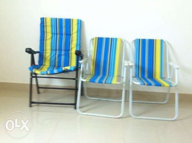 Camping chairs - very good condition - كراسي للرحلات