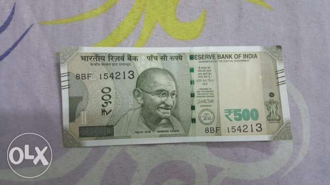 New currancey india 500 rupess