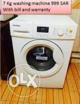 7 Kg Fully Automatic Washing Machine asmost new only 9 months used