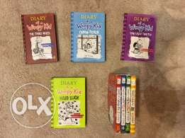 8 Diary of a Wimpy Kid books in mint condition