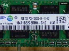 Samsung M471B5273DH0-CH9 4GB DDR3 RAM for laptop for sale