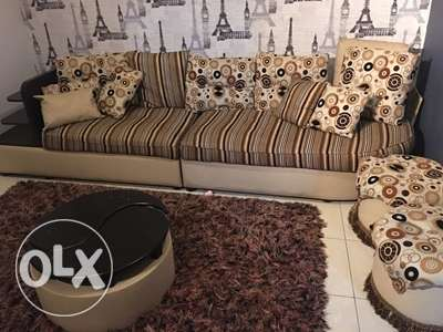 Sofa Set 7-8 sitter with storage facility