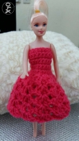 Hand crocheted doll gown : )