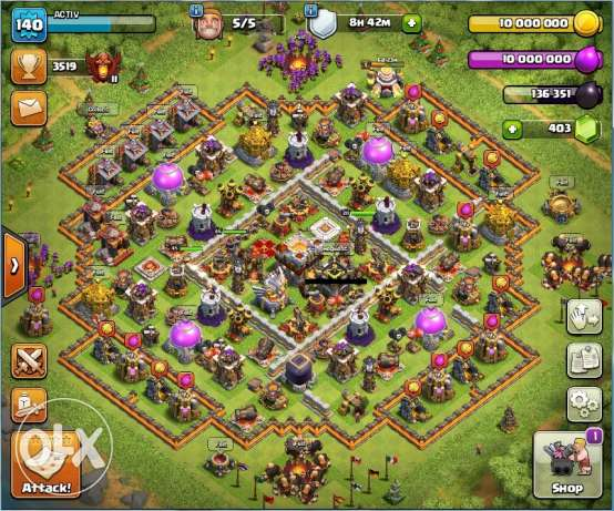 Clash of clans th11 max everything