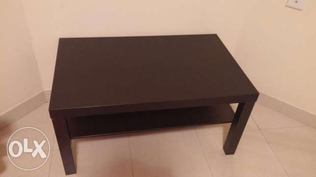 Black wood table from ikea