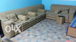 Sofa's with Table Set & Curtain