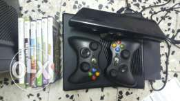 Xbox 360 S with kinect and 6 original cd games