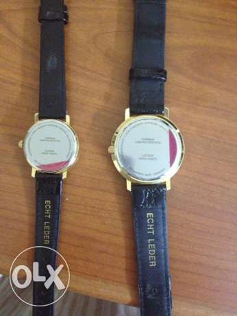 watch pair with gold coin