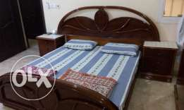 Egyptian Wood Bed Room, Wooden Cuboard , Single Bed & Gas cylinders