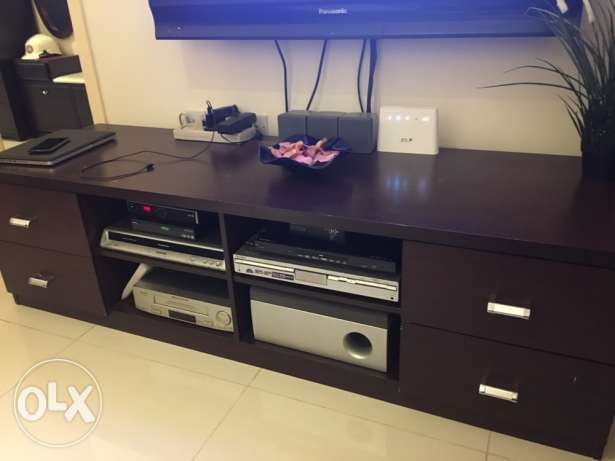 TV Table stand with drawers