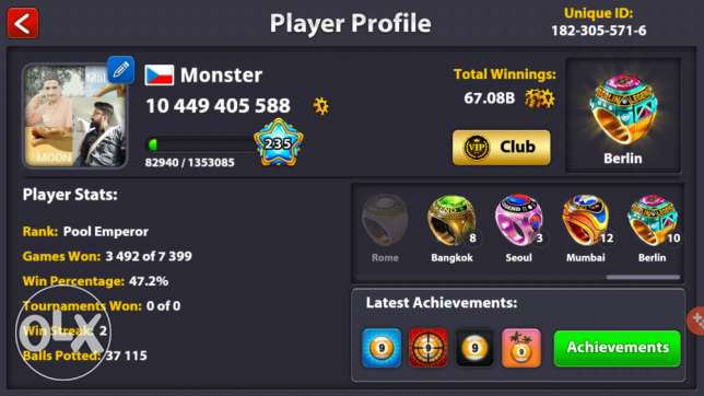 8 Ball pool ID For sale
