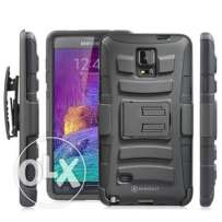Minisuit Dual-Layer Rugged Kickstand Case +Belt Clip for Galaxy Note 4