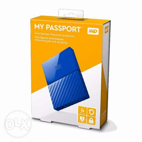 Wetern Digital 4TB My Passport Portable External Hard Drive - USB 3.0
