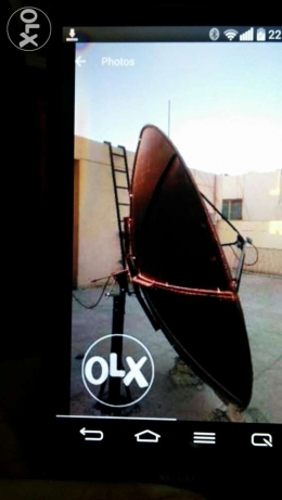 Satellite dish with 2 LNBs (Hotbird & Nile sat) and cables
