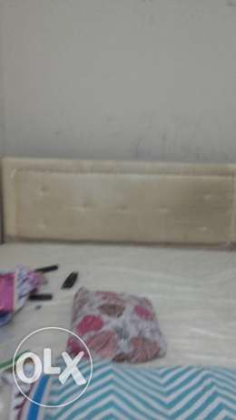 Double bed with mattress & cupboard urgent sale