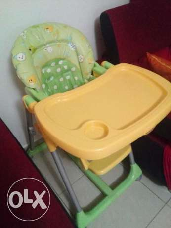 Baby high chair for eating